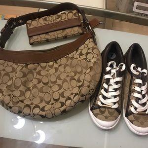 Coach bundle. Includes wallet purse and shoes.